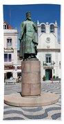 Municipal Square In Cascais Portugal Hand Towel