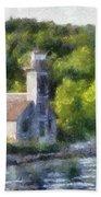 Munising Grand Island Lighthouse Upper Peninsula Michigan Pa 01 Bath Towel