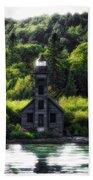 Munising Grand Island Lighthouse Upper Peninsula Michigan Vertical 01 Bath Towel