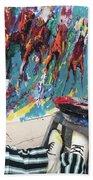 Mural Del Mar Race Track Bath Towel