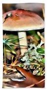 Mushroom And Moss Bath Towel