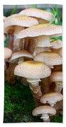 Mushrooms And Moss Bath Towel
