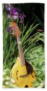 Music And Flowers Bath Towel
