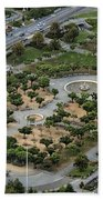 Music Concourse At Golden Gate Park In San Francisco Hand Towel