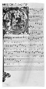 Music Manuscript, 1450 Bath Towel