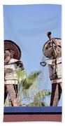Musicians At The Hotel California Todos Santos Mx Bath Towel