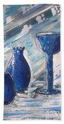 My Blue Vases Bath Towel