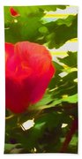 My Love Is Like  A Red Red Rose Of Sharon Bath Towel