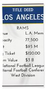 My Nfl Los Angeles Rams Monopoly Card Bath Towel