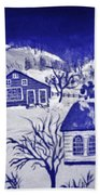 My Take On Grandma Moses Art Bath Towel