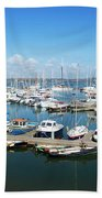 Mylor Marina Cornwall Bath Towel
