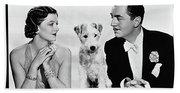 Myrna Loy Asta William Powell Publicity Photo The Thin Man 1936 Bath Towel