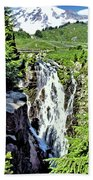 Myrtle Falls And Mount Rainier Bath Towel