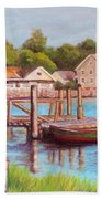 Mystic River View Bath Towel