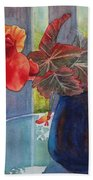 Nancy's Begonias Bath Towel