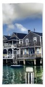 Nantucket Harbor In Summer Bath Towel