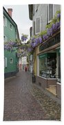 Narrow Street In Freiburg Bath Towel