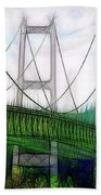 Narrows Bridge Abstract Bath Towel