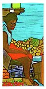 Nassau Fruit Seller At Waterside Hand Towel