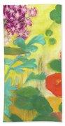 Nasturtiums, Rose Milkweed And Rue Bath Towel