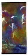 Native American - 5 Girls Dancing In The Moonlight Hand Towel