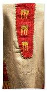 Native American Great Plains Indian Clothing Artwork 09 Bath Towel