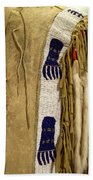 Native American Great Plains Indian Clothing Artwork Vertical 06 Bath Towel
