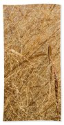 Natural Abstracts - Elaborate Shapes And Patterns In The Golden Grass Bath Towel