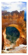 Natural Bridge Arch In Bryce Canyon National Park Bath Towel