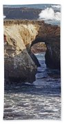 Natural Bridge At Point Arena Bath Towel