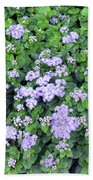 Natural Bush With Purple Small Flowers. Bath Towel