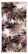 Nature Abstract In Pink And Brown Bath Towel