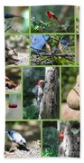 Nature Collage Bath Towel