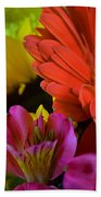 Nature Colorful Bouquet Bath Towel