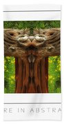 Nature In Abstract 4 Poster Bath Towel