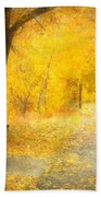 Nature's Golden Corridor Bath Towel