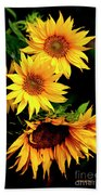 Natures Sunflower Bouquet Bath Towel
