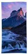 Nature's Sunrise Canvas Bath Towel