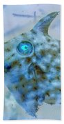 Nautical Beach And Fish #4 Bath Towel