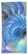 Nautilus Shells Blue And Purple Bath Towel by Gill Billington