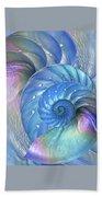 Nautilus Shells Blue And Purple Bath Towel