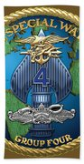 Naval Special Warfare Group Four - N S W G-4 - On Red Bath Towel