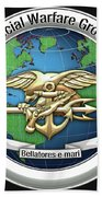 Naval Special Warfare Group Three - Nswg-3 - On Black Bath Towel
