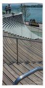 Navy Pier Stairs Bath Towel