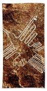Nazca Hummingbird Bath Towel