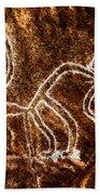 Nazca Monkey Hand Towel