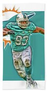 Ndamukong Suh Miami Dolphins Oil Art Bath Towel