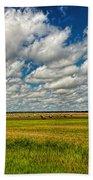 Nebraska Wheat Fields Bath Towel