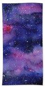 Nebula Watercolor Galaxy Bath Towel