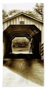 Neff's Mill Covered Bridge - Lancaster County Pa. Bath Towel